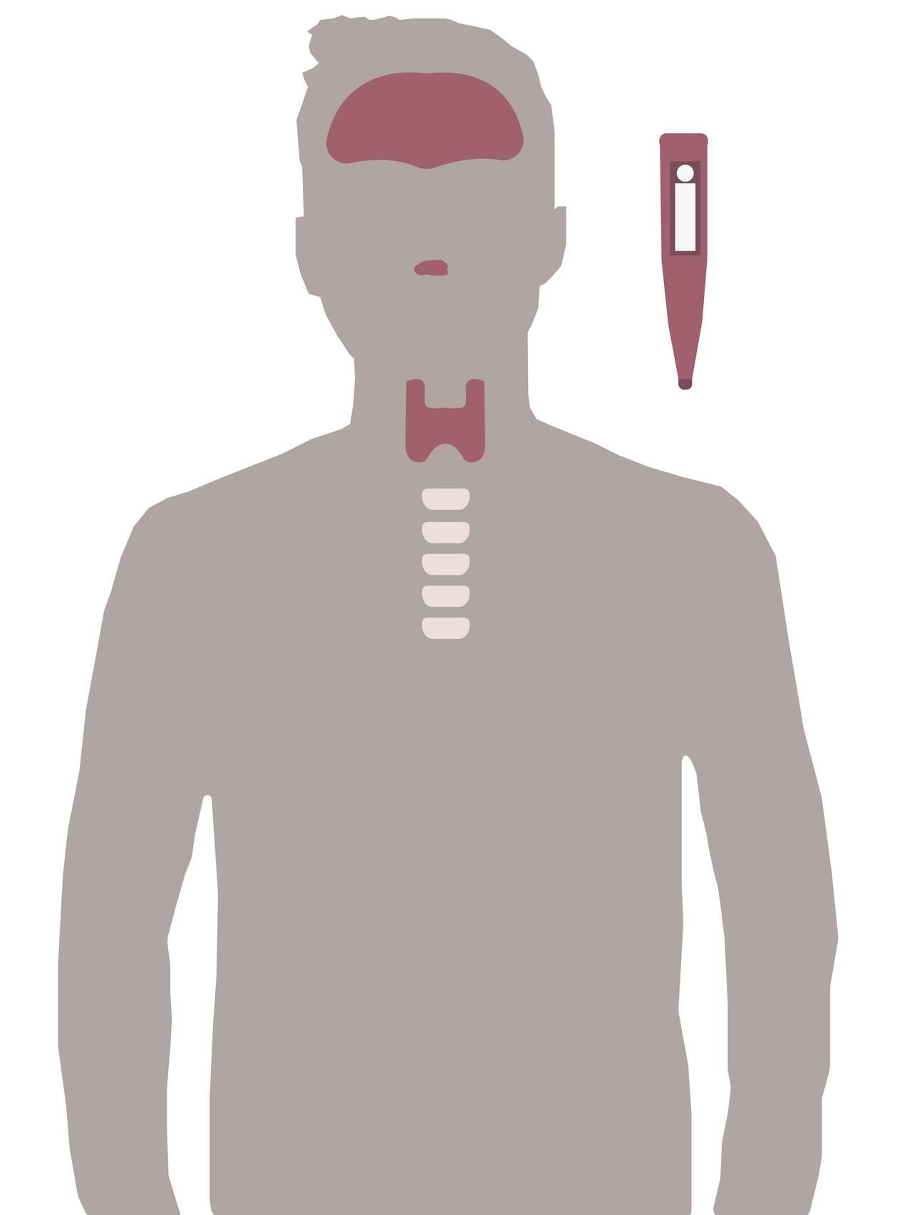silhuett av mann med hodepine, hals og nese smerter