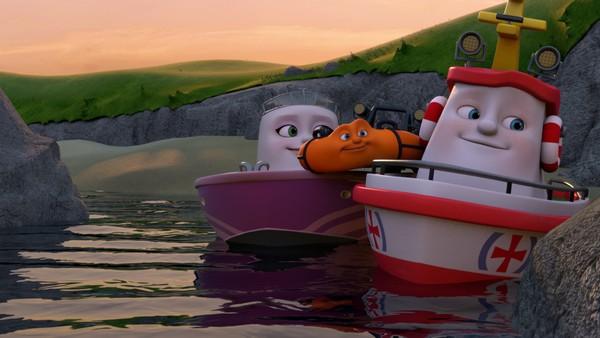 Norsk animasjonsserie. Overnattingsturen. Redningsskøyta Elias bor i Lunvik, og sammen med sine gode venner Helinor og Duppe redder de båter i alle mulige situasjoner.