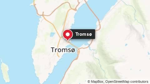 Kart som viser Tromsø by