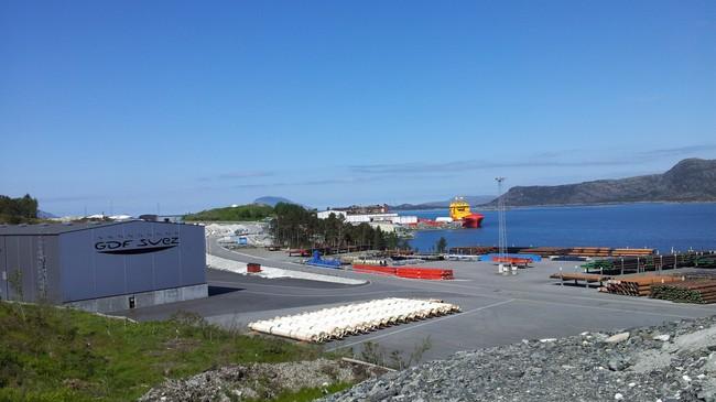 GDF Suez på Fjord Base. Foto: Kjell Arvid Stølen, NRK.