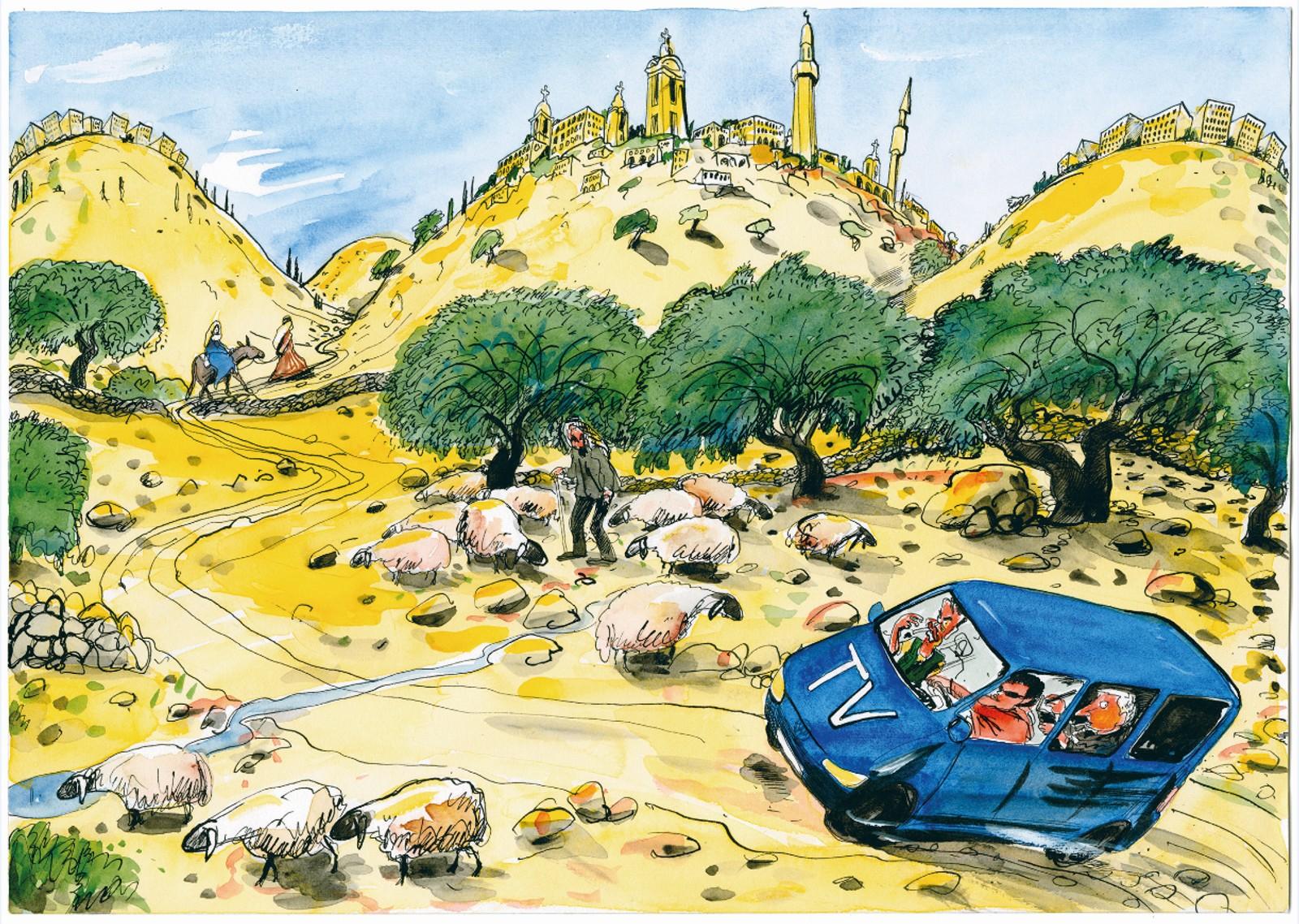 «Med Olav Versto for å drøfte de syv dødssynder i Sodoma.»