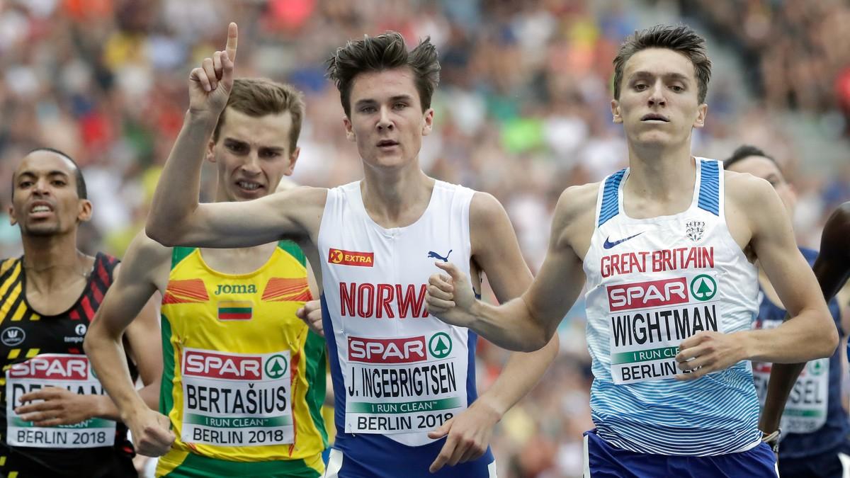 Jakob Ingebrigtsen tok EM-gull på 1500-meter