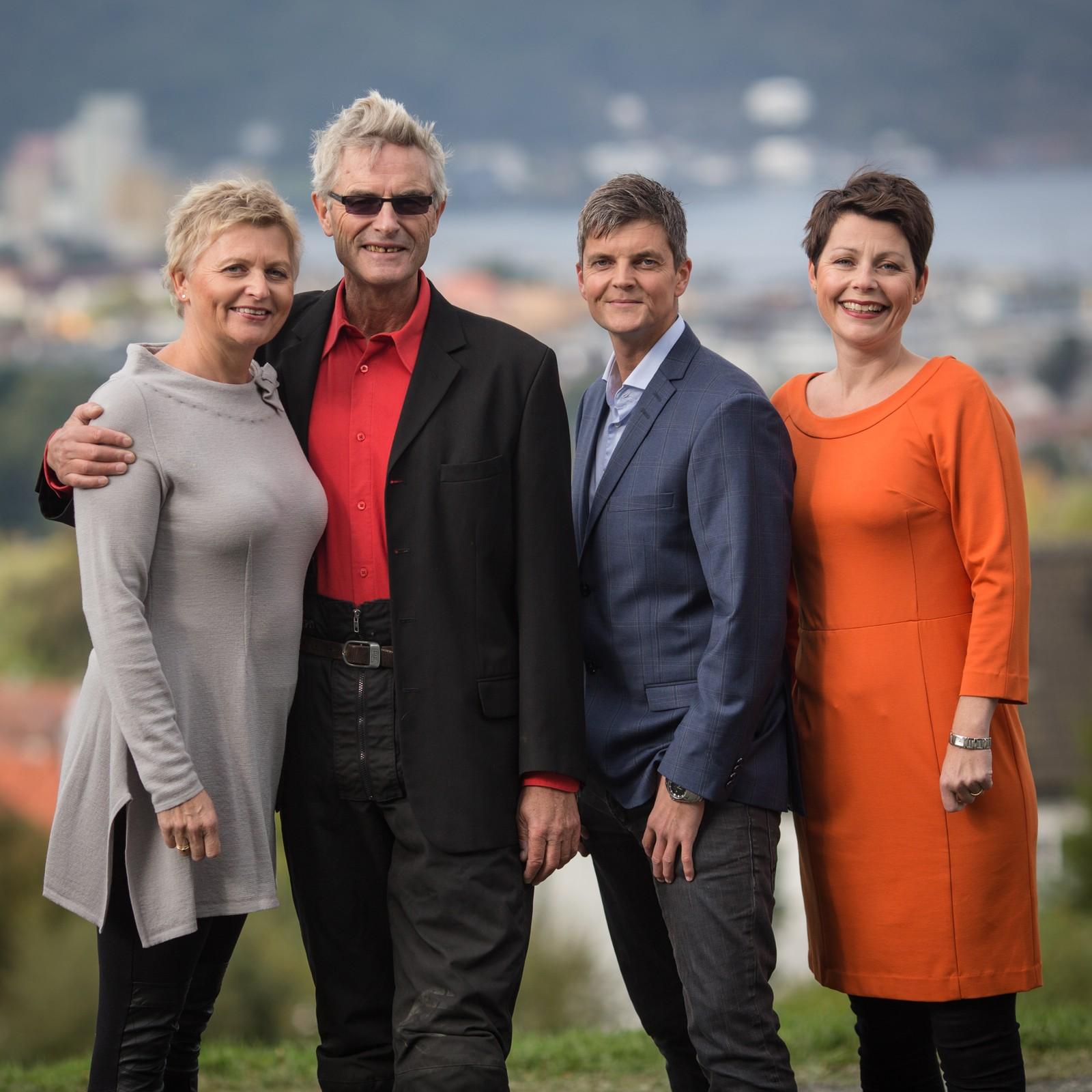 Grete Thobroe, Alf Skille, Odd Rune Wolden og Elisabeth Aas er programledere i Midtnytt