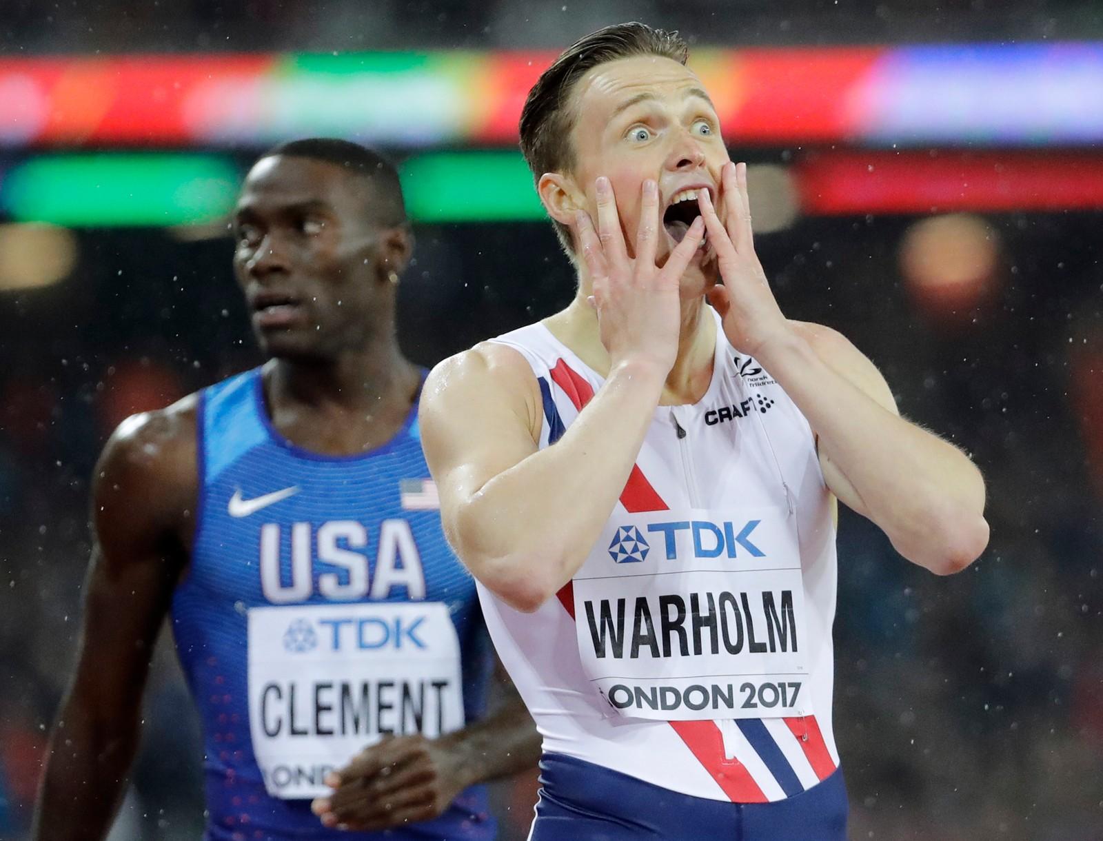 Karsten Warholm (21) løp onsdag kveld inn til et sensasjonelt VM-gull på 400 meter hekk under VM i friidrett i London. Amerikanske Kerron Clement var storfavoritt på forhånd, men endte på tredjeplass, etter Yasmani Copello, som representerer Tyrkia.