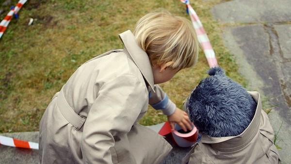 Hva har skjedd med den døde fuglen som ligger i hagen? Johan og Brillebjørn må undersøke saken. Norsk dramaserie. (10:10)