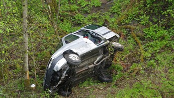 Bil falt 30-40 meter
