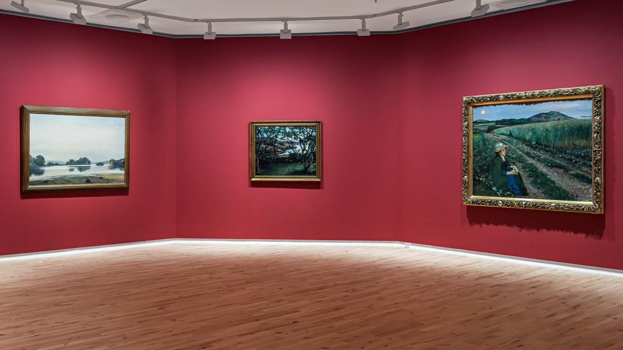 JUBILEUMSUTSTILLINGEN representerer flere av områdets mest sentrale kunstnere.