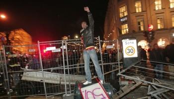 Demonstrerte mot støttedemonstrasjon