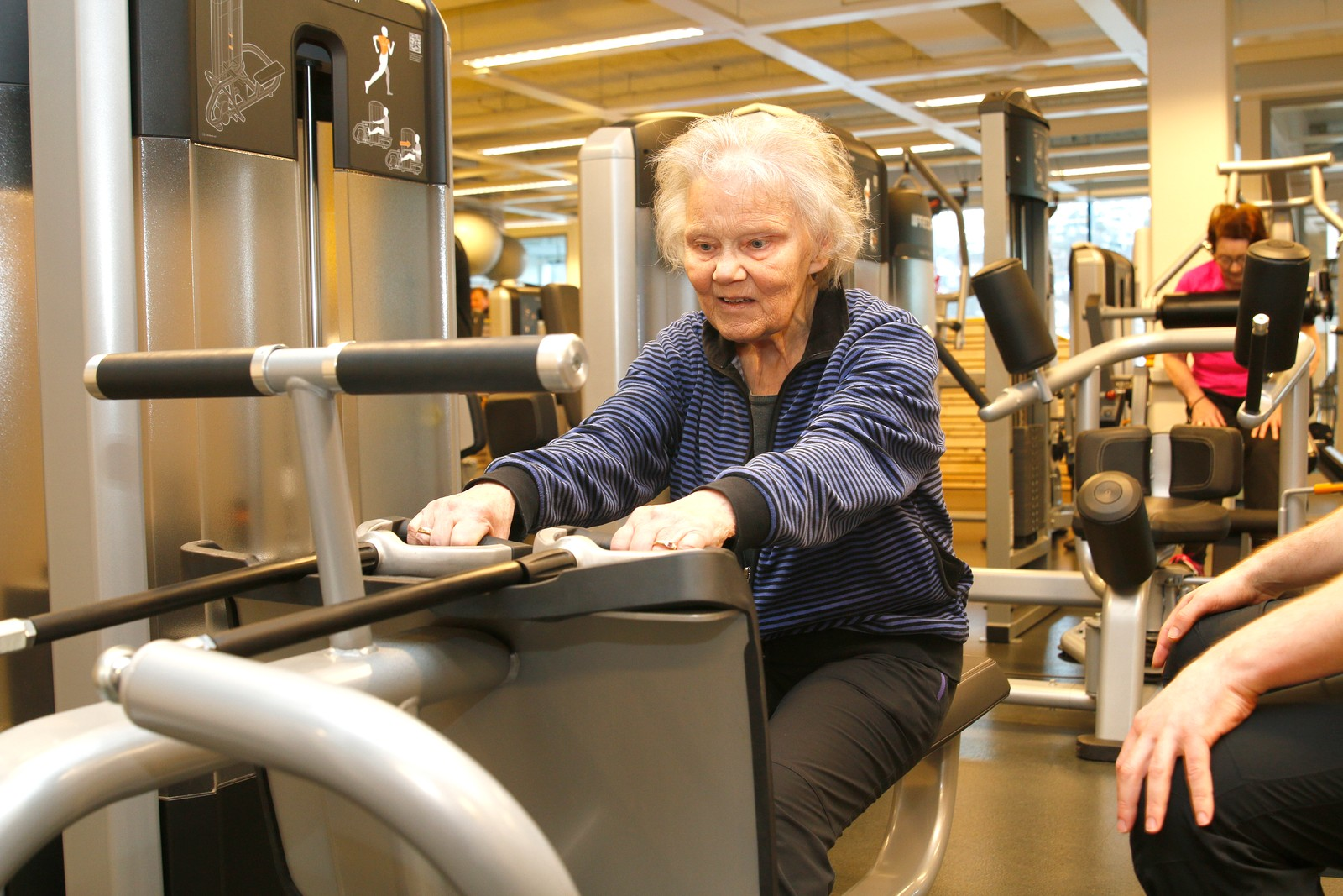 TRENAR HEILE KROPPEN: Margot Fonn vil bli sterk for å kunne gå i fjellet i åra framover også.
