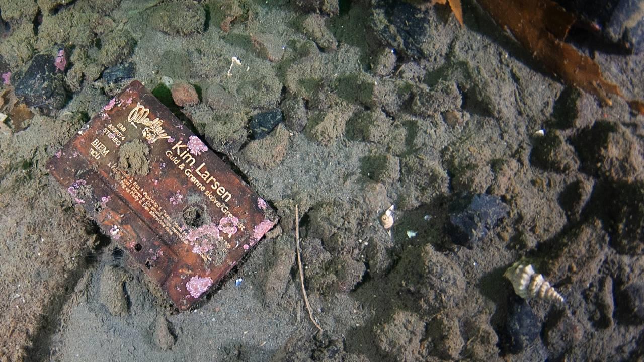 En kassett av Kim Larsen ligger på bunnen av Oslofjorden