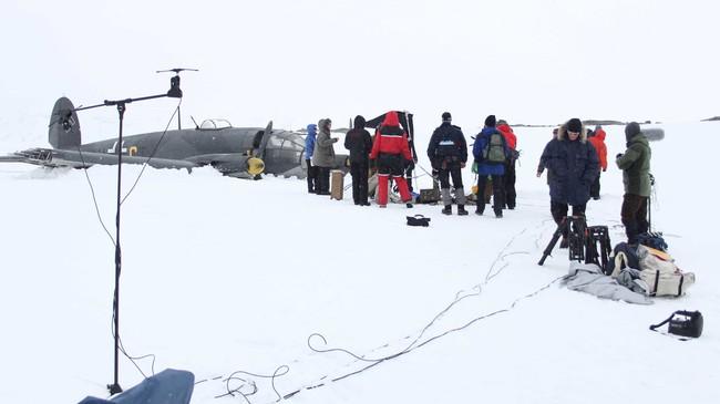 Frå innspelinga av filmen om hendinga i 2011. Foto: NRK.