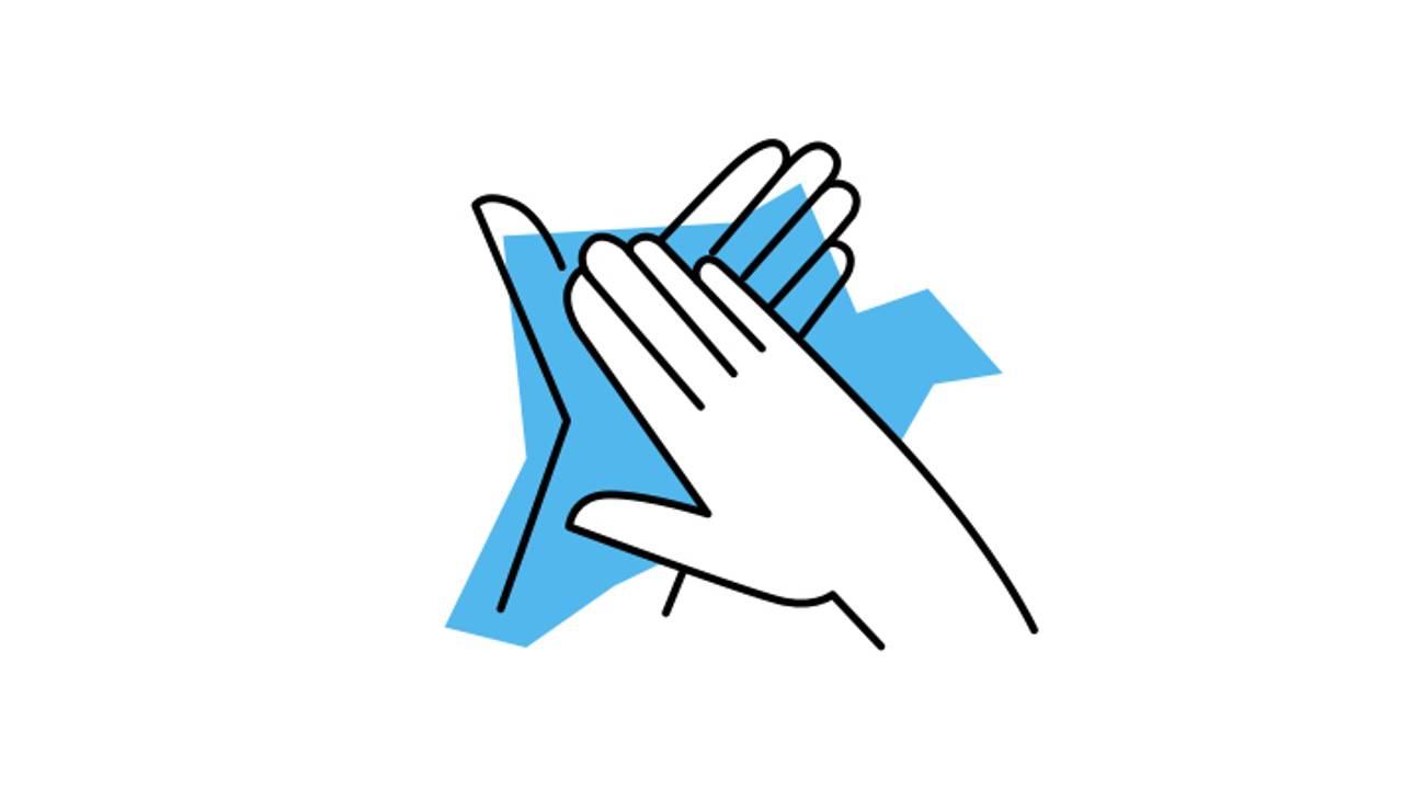 Tørk hendene