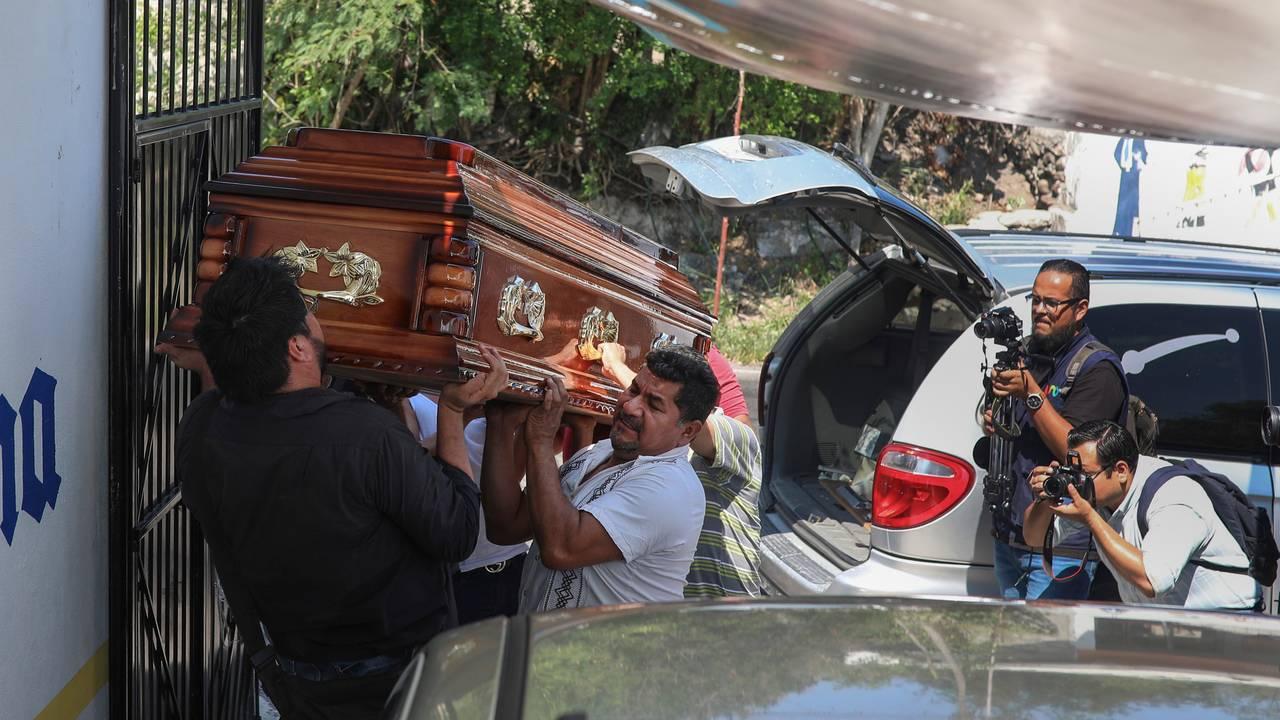 Kisten til den drepte meksikanske journalisten  Jorge Celestino Ruiz Vazquez