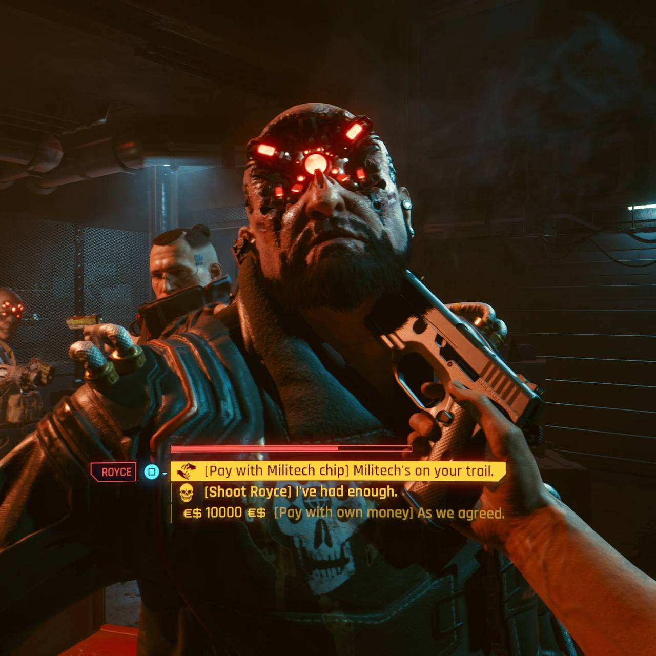 Skjermbilde fra spillet «Cyberpunk 2077».