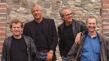 New Jordal Swingers . Fra venstre: Armand Torp, John Kolloen, Eigil Berg og Ole Marius Melhuus.