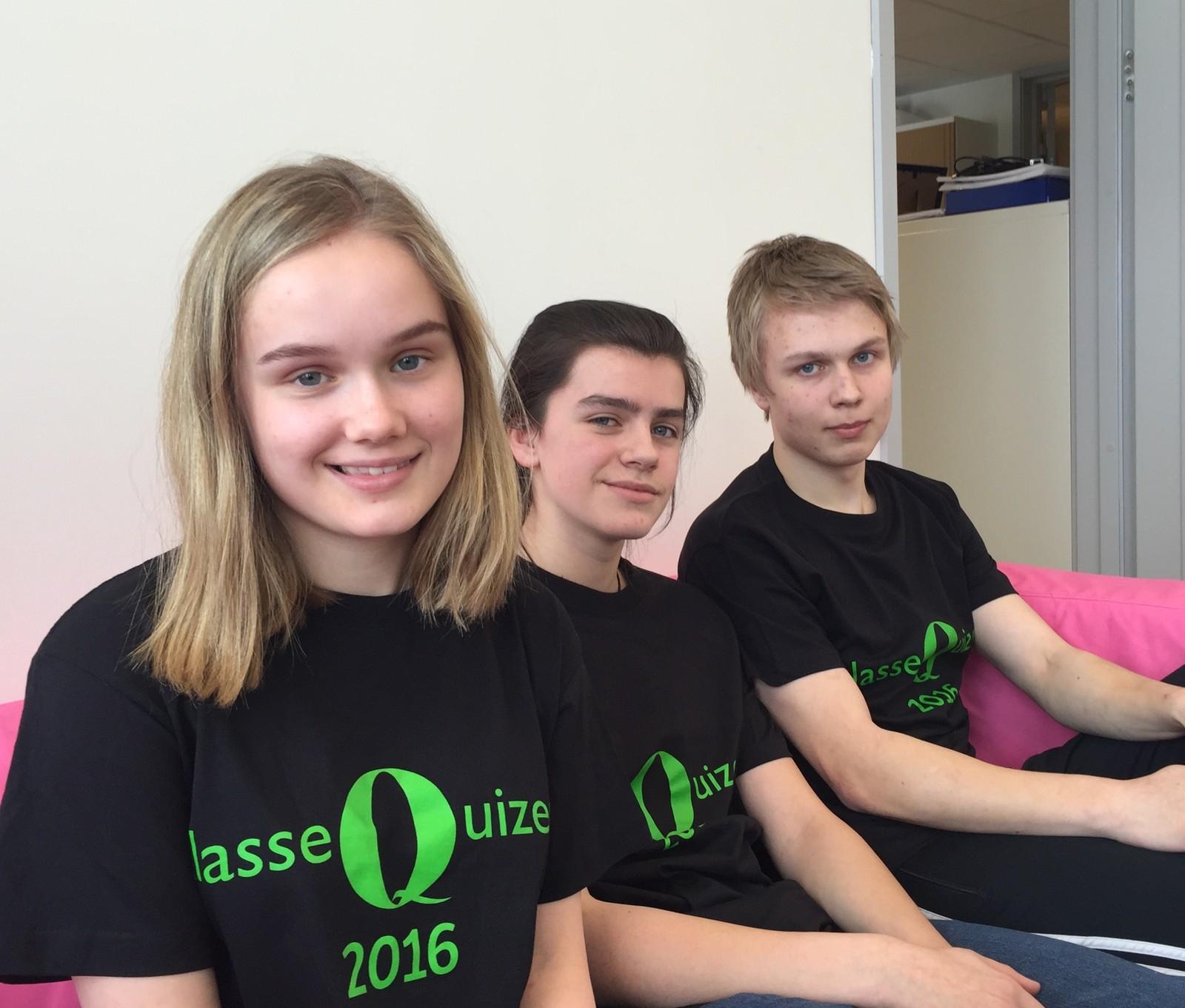 Maja Aune Bardal, Torfinn Olav Granamo Opheim og Marius Skaug fra Snåsa skole fikk 9 poeng.