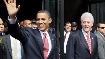 Barack Obama og Bill Clinton