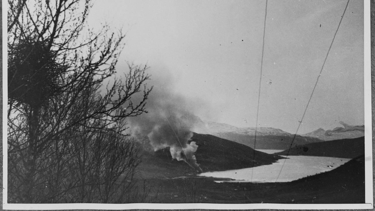 Narvikfronten i Gratangen, Gratangsbotn bombarderes