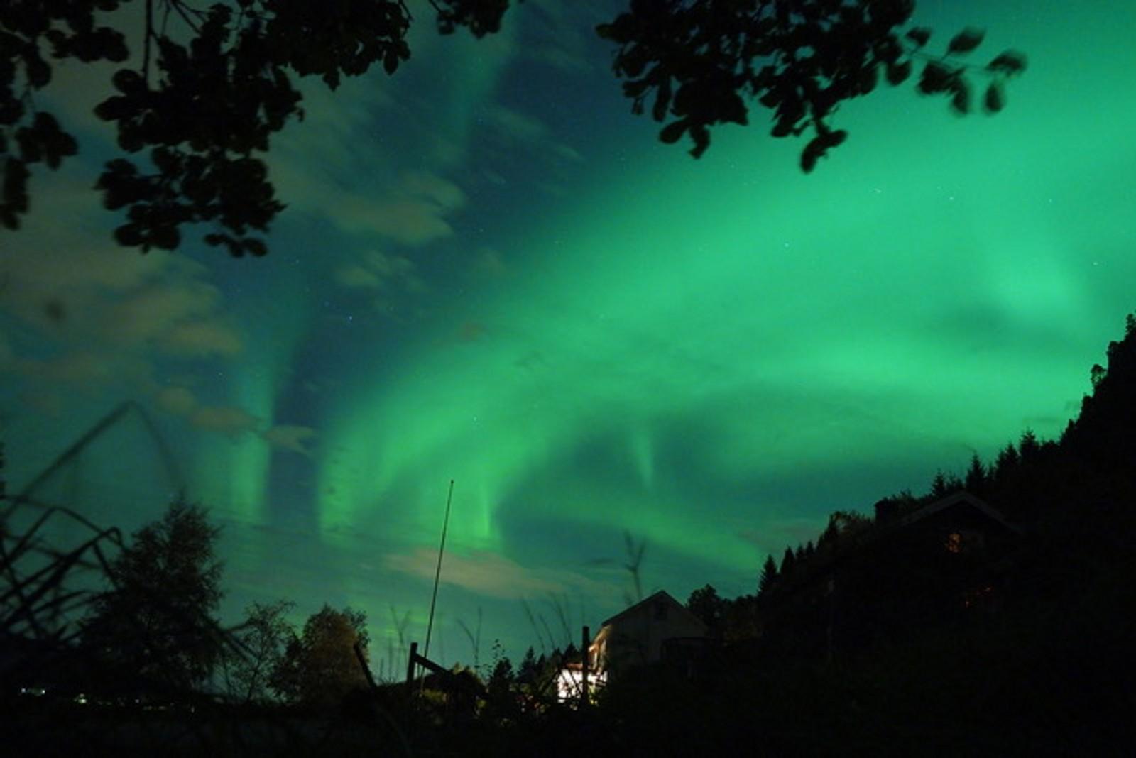 Rob Buist tok dette bildet i natt på vei hjem fra jobb i Molde.