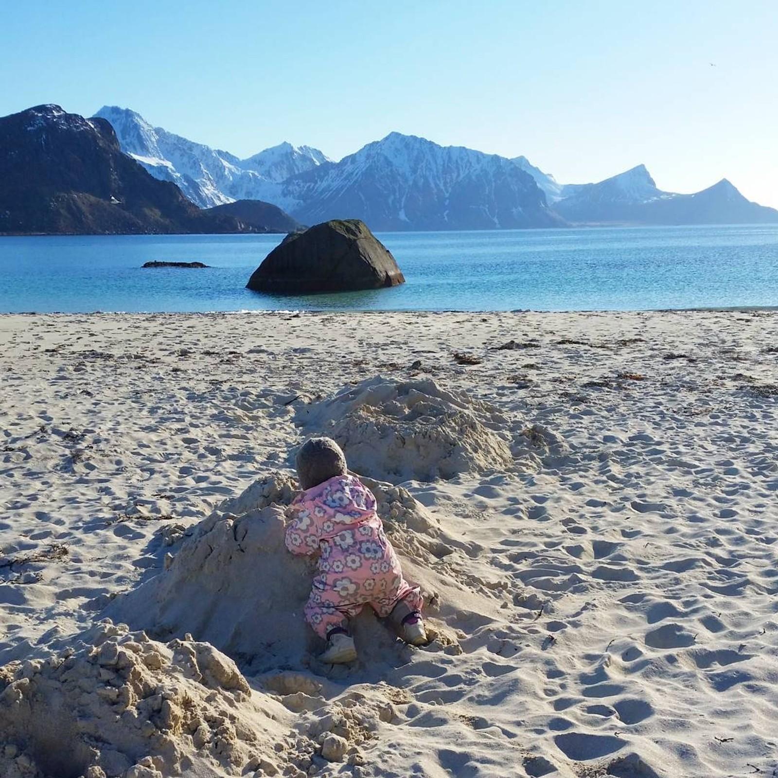 Hauklandsstranda og sandslott