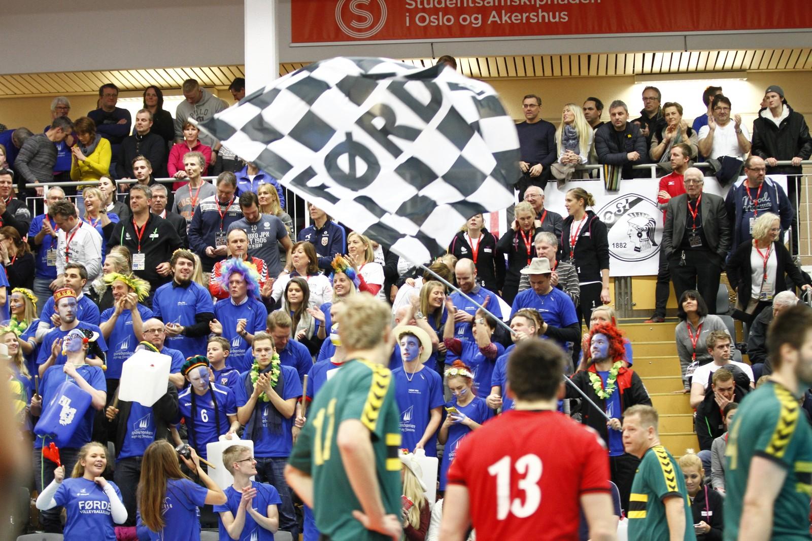 STEMNING: Det er ikkje utan grunn at Norges Volleyballforbund veit å setje pris på å ha Førde i cupfinalen.
