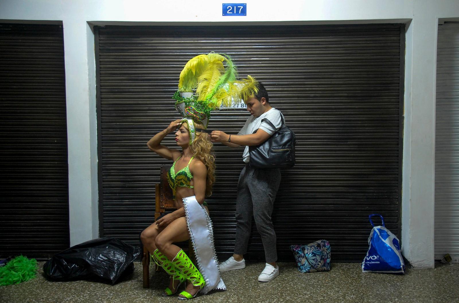 De siste forberedelsene gjøres før First Miss Universe Gay 2017 i Medellin i Colombia.