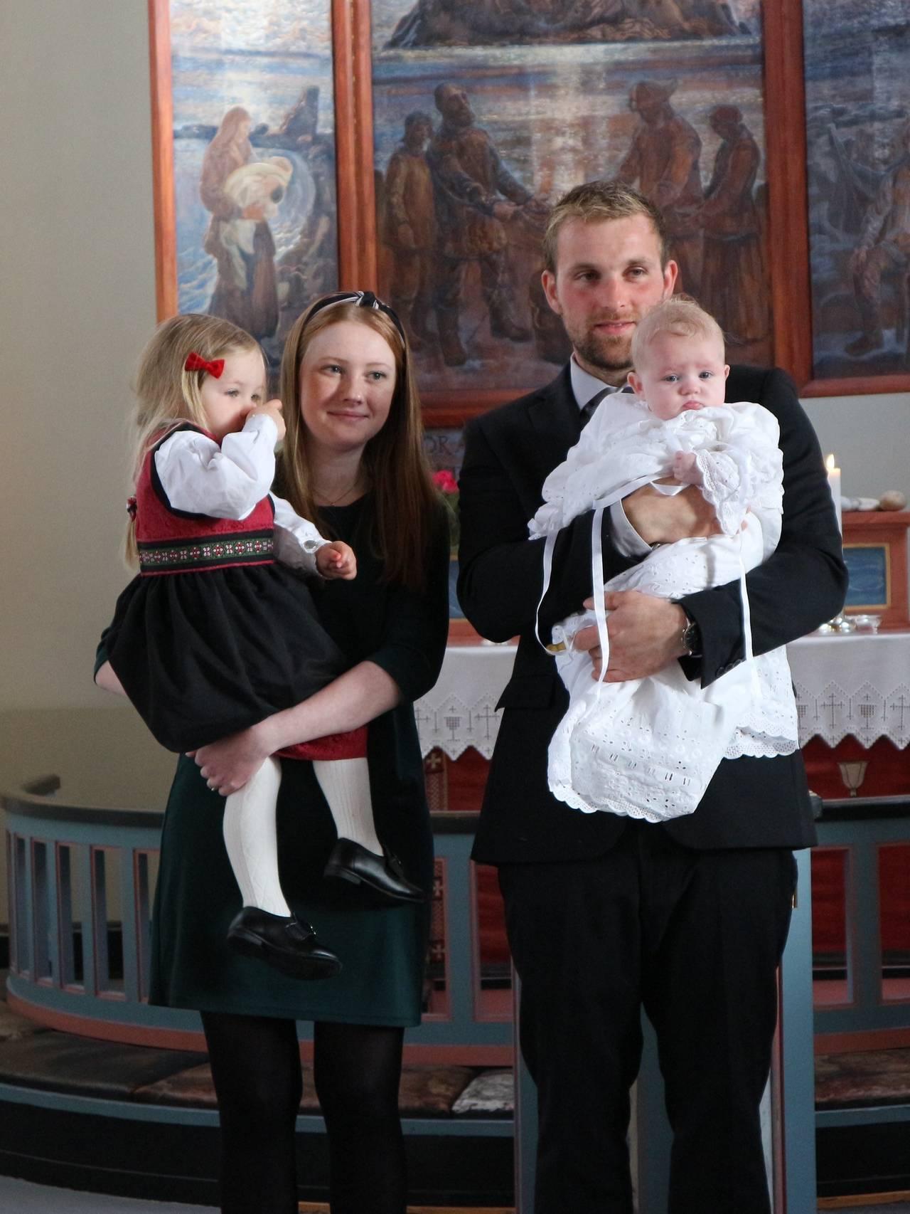 Sara Mathisen, Joachim Christensen og barna