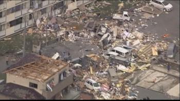 Video Tornadoødeleggelser i Japan
