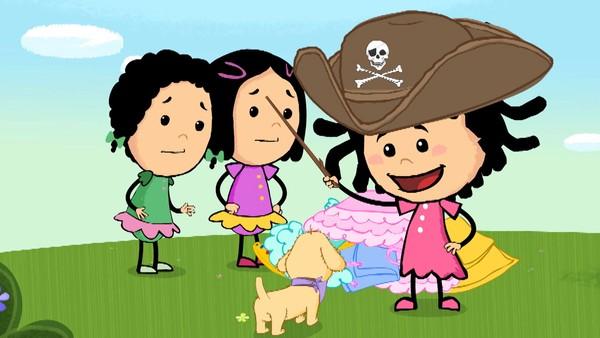 Norsk animasjonsserie. Piratprinsessevalp.Lille Elfrid er fem år og en gledesspreder. Når hun endelig får lov til å utforske verden på egenhånd blir vi med på en oppdagelsesferd som er både skummel og fantastisk.
