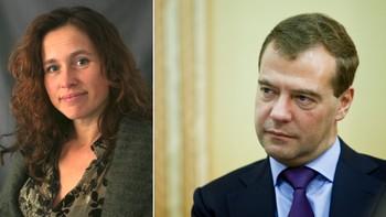 Julie Wilhelmsen og Dmitrij Medvedev