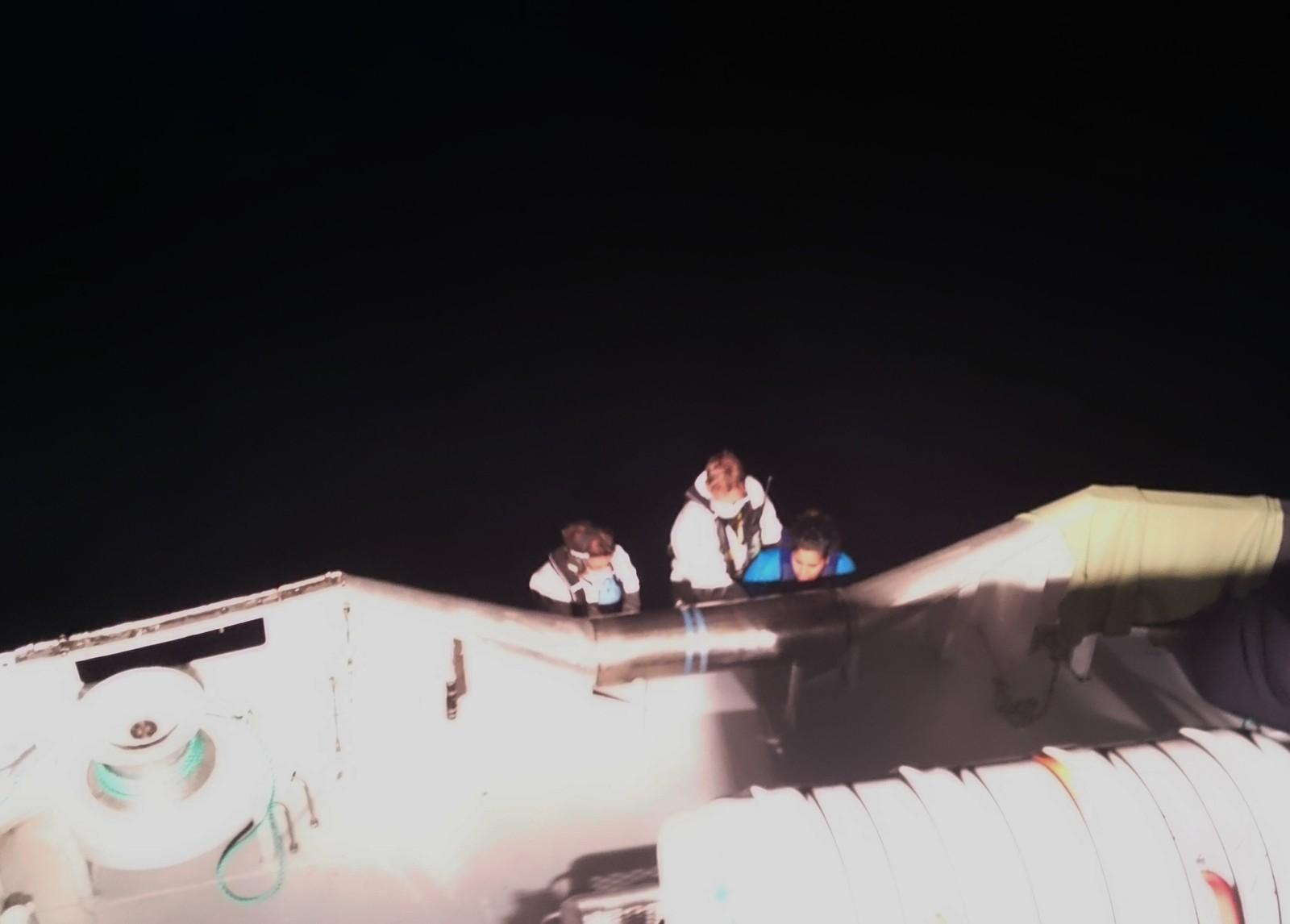 Fatima var fullstendig utsliten då ho vart teken om bord i den norske redningsskøyta.