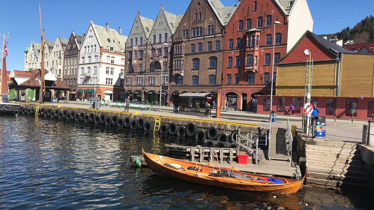 Her i Bergen.