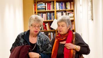 Kari Hilde French (t.v.) og Mathilde Moland.