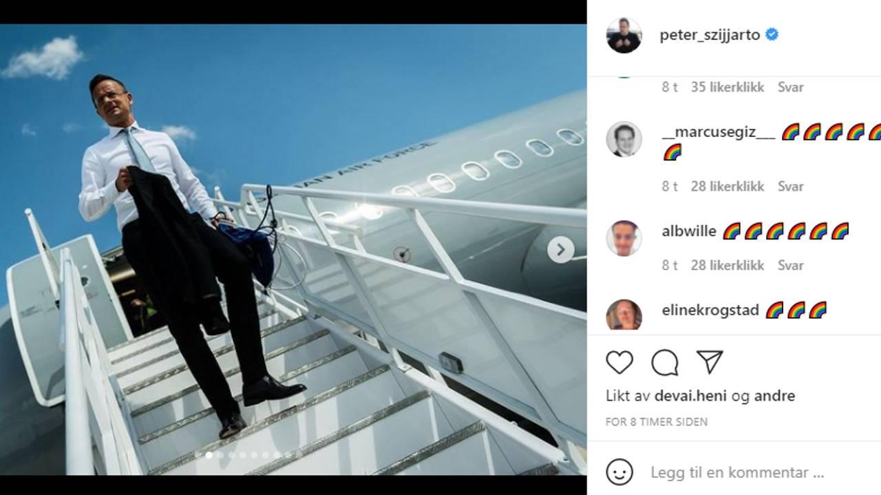 Peter Szijiartos instagram