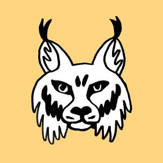 Illustrasjon av et gult gaupehodet