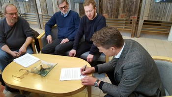 Signering av opprop for statsgarantier