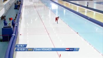 Sverre Lunde Pendersen tar bronse på dagens 5000 m.
