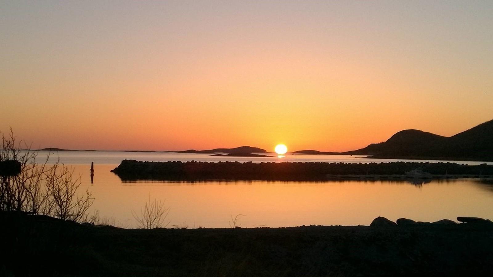Solnedgang i Sømna.