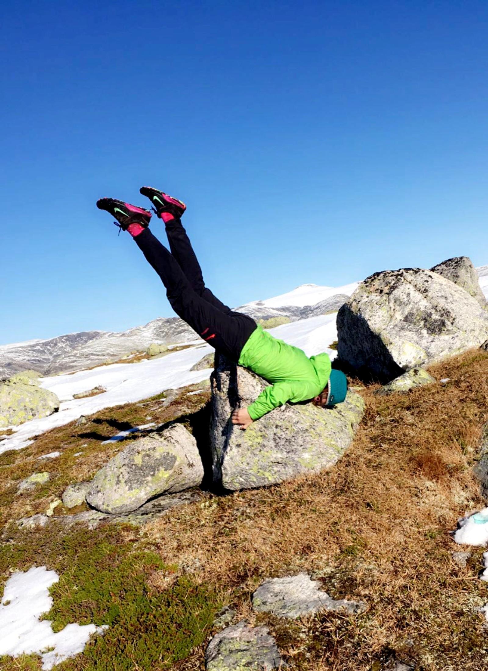 Akrobatikk på Bolsetnipa.