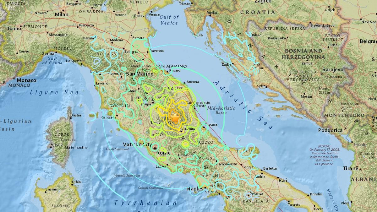 kart over jordskjelv Dette vet vi om jordskjelvet i Italia – NRK Urix – Utenriksnyheter  kart over jordskjelv