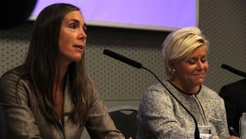 Hilde Singsaas (Ap) og Siv Jensen (Frp)