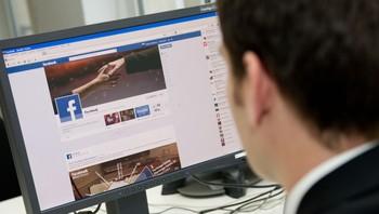 Facebook på PC-skjerm