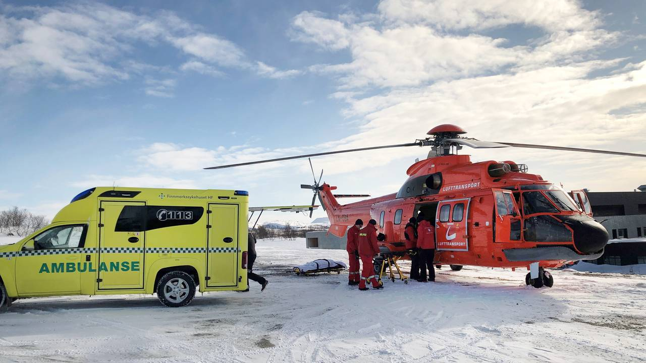 Ambulanse og Super Puma, korona