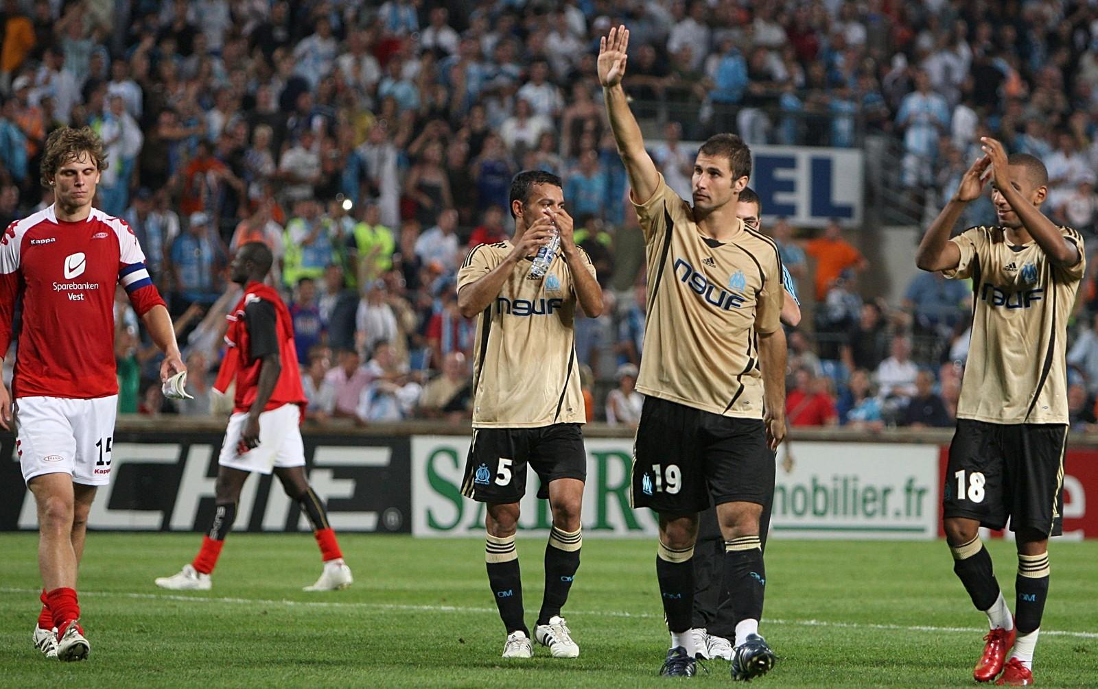 YPPET SEG: Brann var nær ved å kvalifisere seg til Champions League i 2008, men møtte sine overmenn i Marseille.