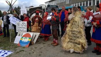 Demonstrasjon mot gruvedrift