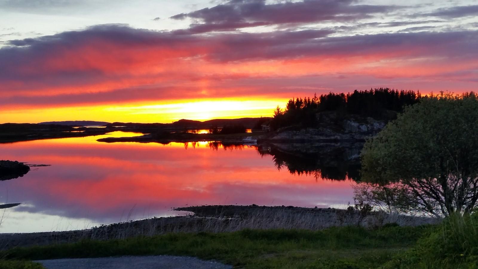 Solnedgang på Vikna