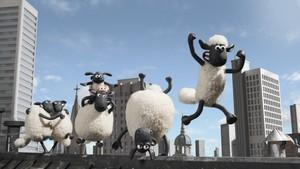 Shaun og flokken reiser til byen