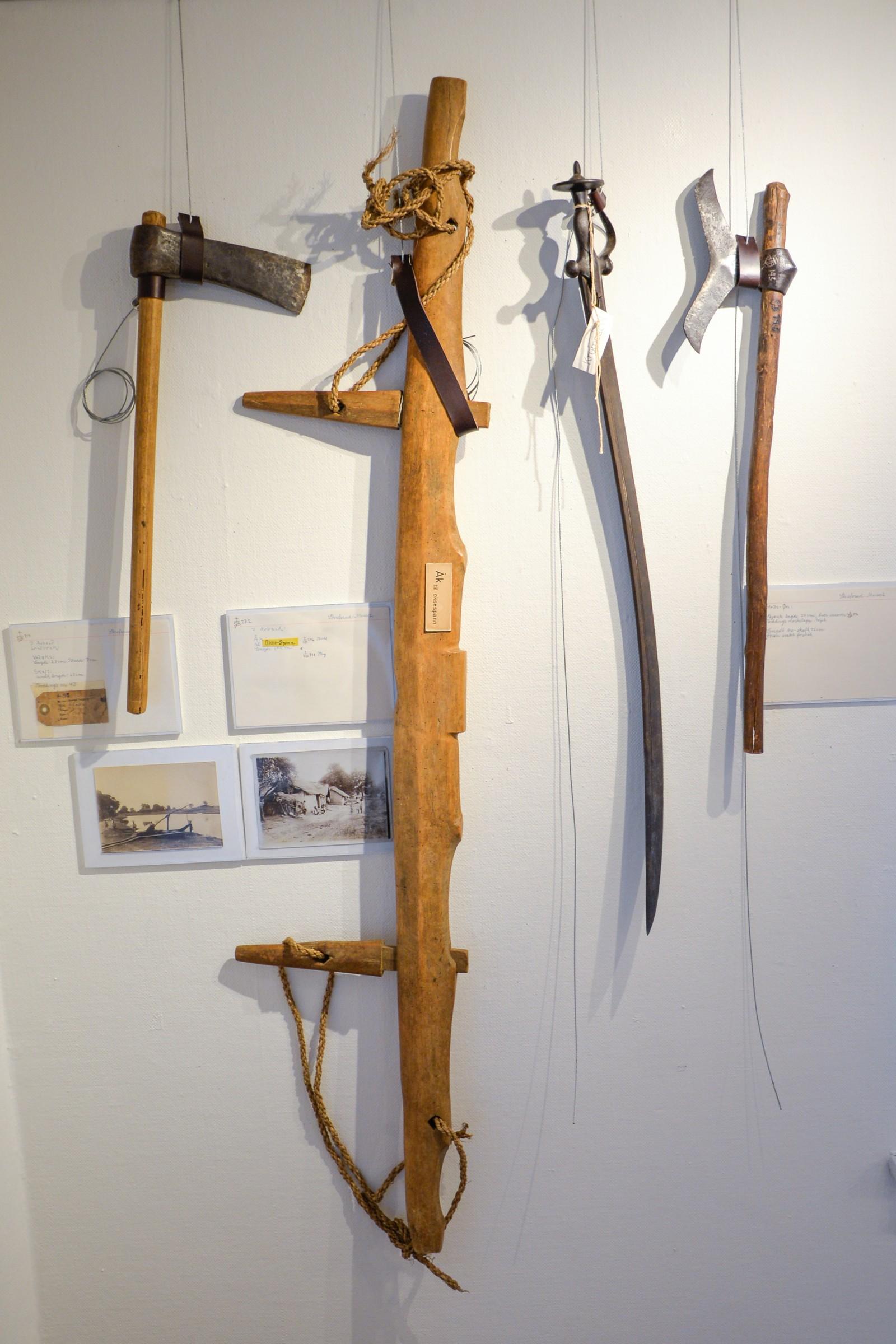 Bodding sendte bortimot 1000 gjenstander av arkeologisk interesse. Blant annet jord- og skogbruksredskap i tillegg til våpen.