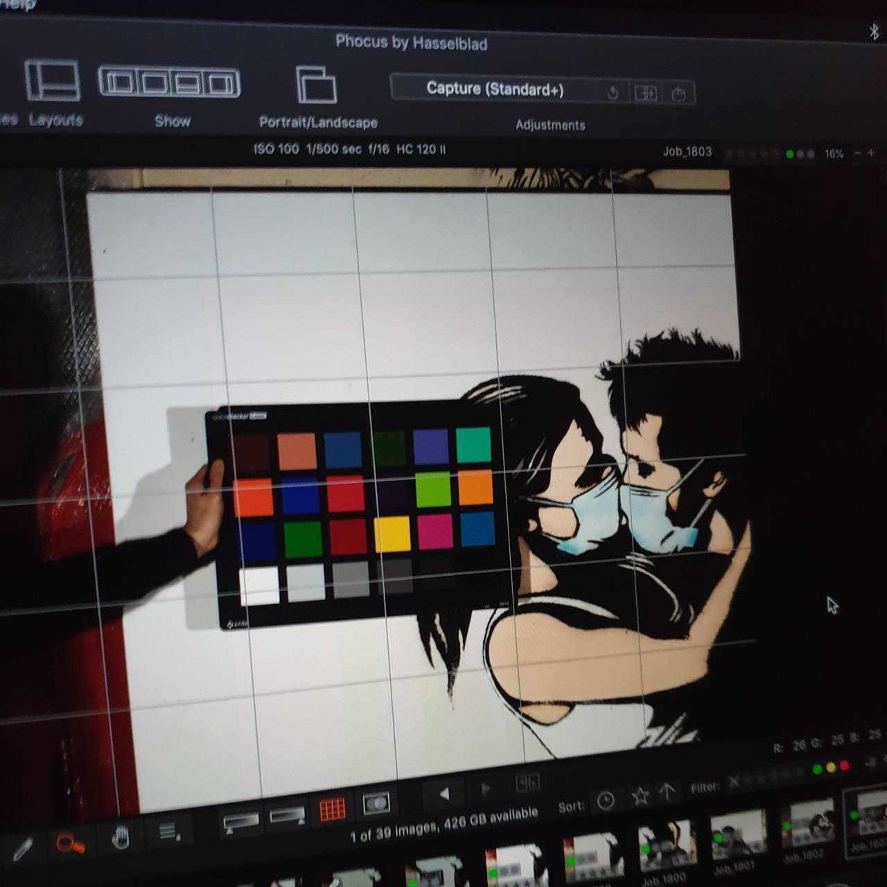 Avfotografering av kryptoversjonen av «The Lovers»