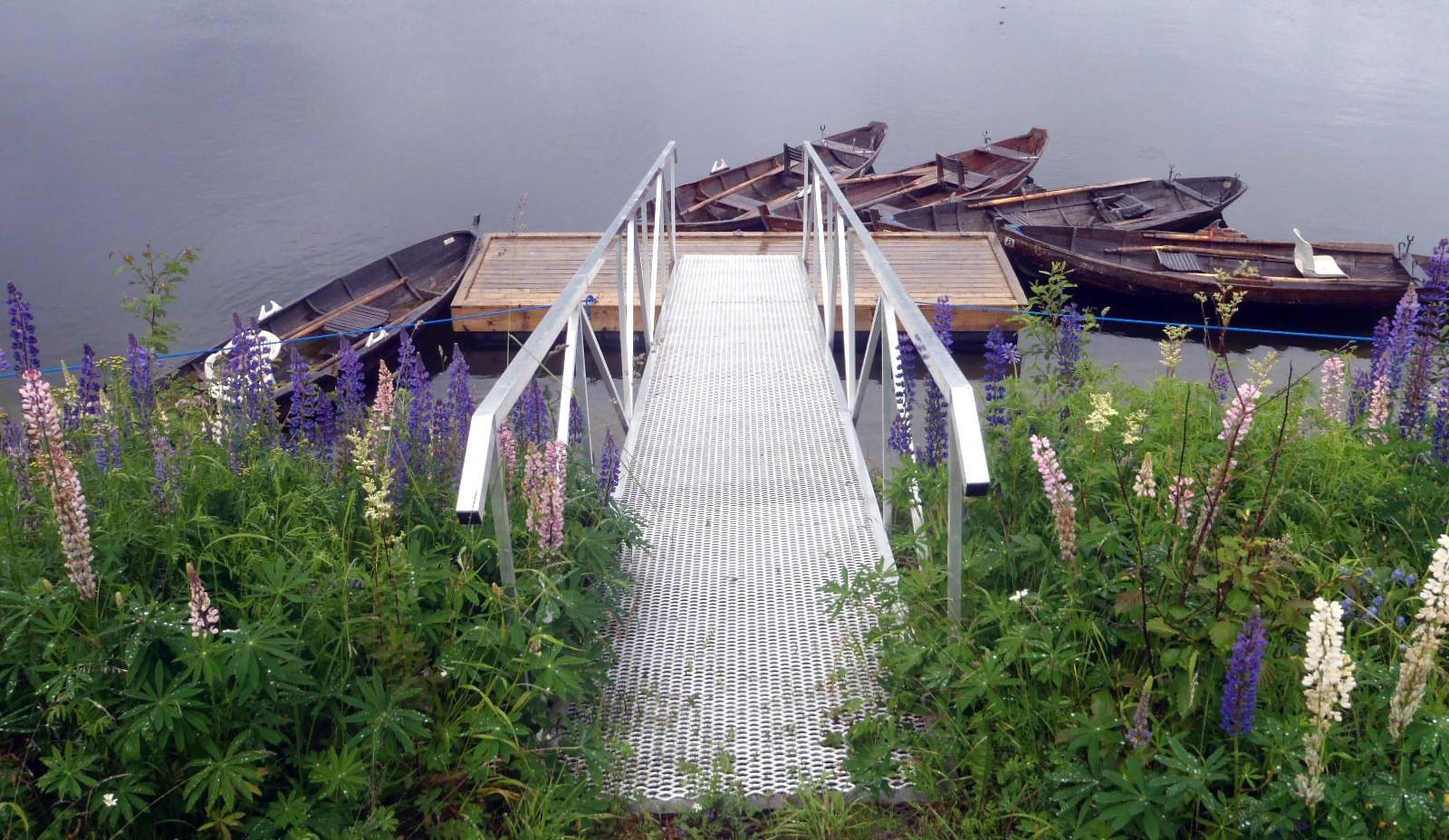 Laksebåter i Namsen